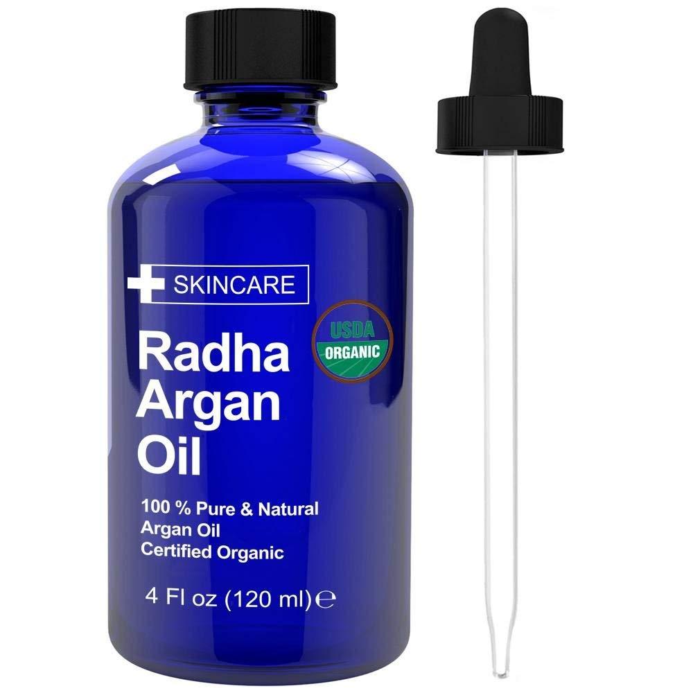 Radha Beauty USDA Certified Organic Argan Oil - 100% Pure 4 oz. B072XN7KG2