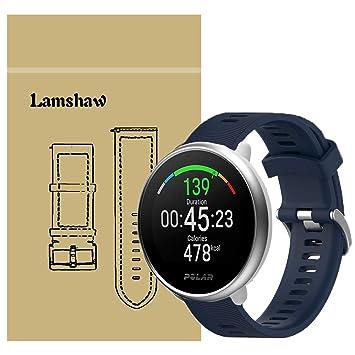 Ceston Moda Deporte Silicona Clásico Correas para Smartwatch Polar Ignite (Azul)