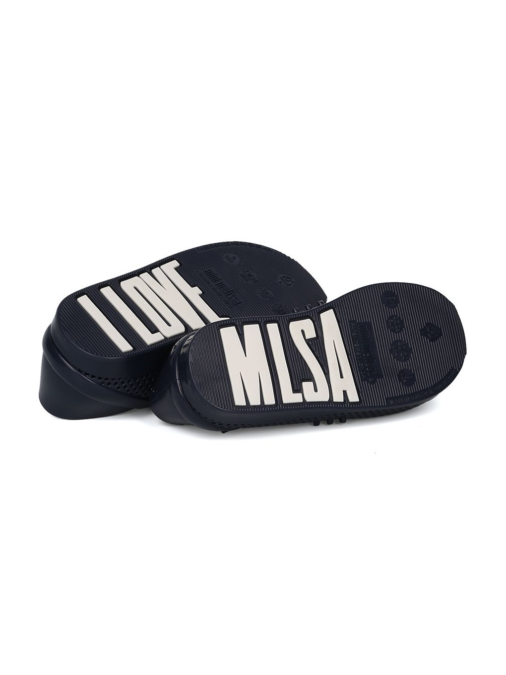 Melissa Mini Mini Love System PVC Perforated Lace up Sneaker HC08 - Navy Blue Mix (Size: Toddler 8) by Melissa (Image #4)