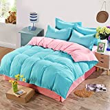 Modern Minimalist style Solid Color 100% Cotton Student Quilt Cover-L 200x230cm(79x91inch)
