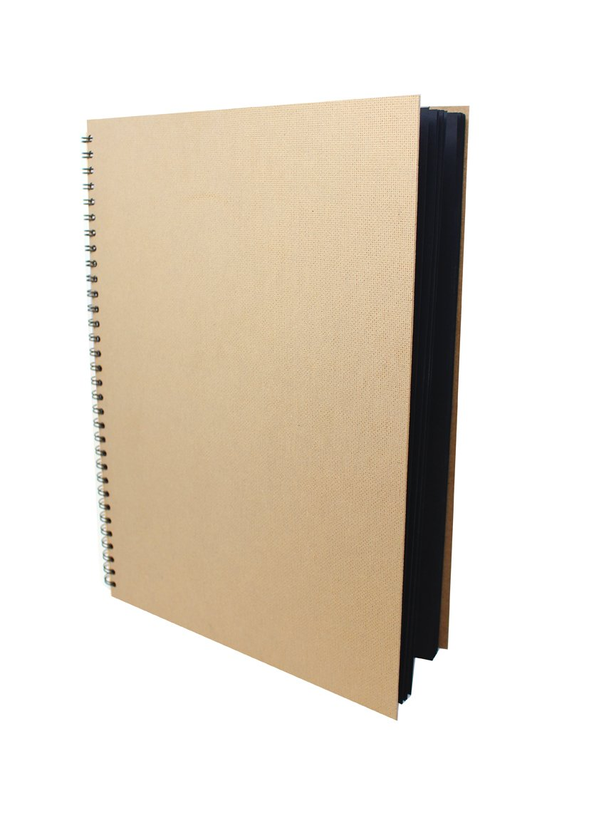 Artway Enviro - Skizzenbuch - 100 % Recycling - Schwarzes Papier/Karton - A3 - 30 Blatt mit 270 g/m² Artway Ltd