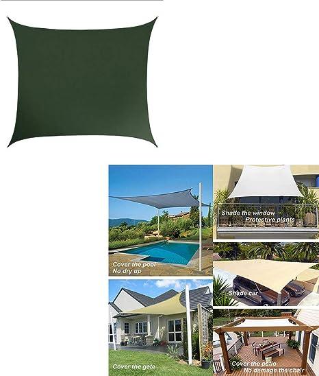 Sombra de protección Solar Vela Toldo de Jardin Vela de protección UV Zona de Barbacoa Exterior de Tela de poliéster Oxford Tela para terrazas, Jardines, instalaciones y Actividades al Aire Libre: Amazon.es: