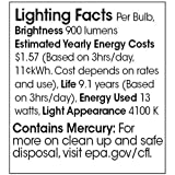 TCP 33113SP41K CFL Spring Lamp - 60 Watt Equivalent (Only 13w used!) Cool White (4100K) General Purpose Spiral Light Bulb - GU24 Base