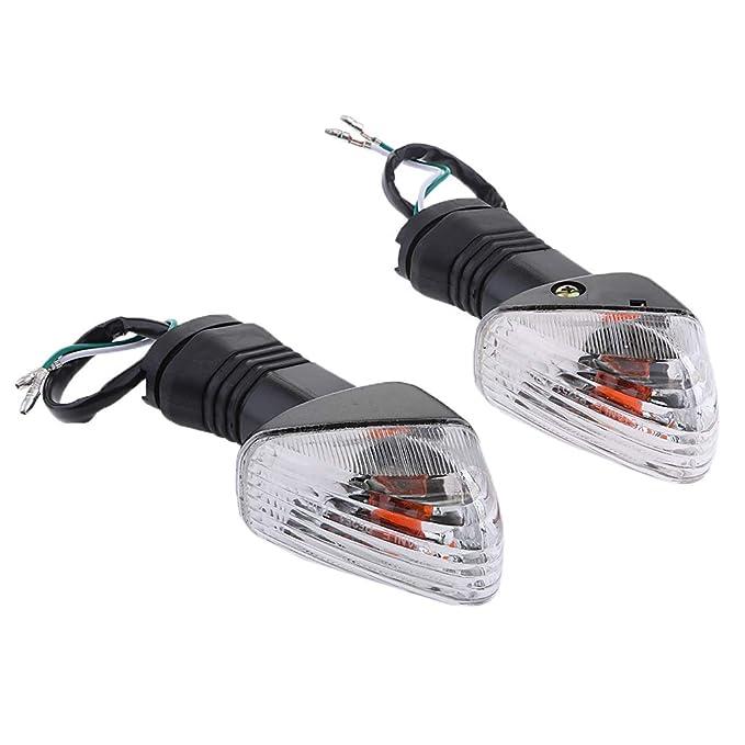 Indicador de Luz Delantera/Trasera de Luz de Señal para Kawasaki Zx6r Zx6rr - Claro