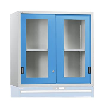 Add on cupboard with sliding doors, doors with vision panel, HxWxD Sliding Door With Vision Panel on