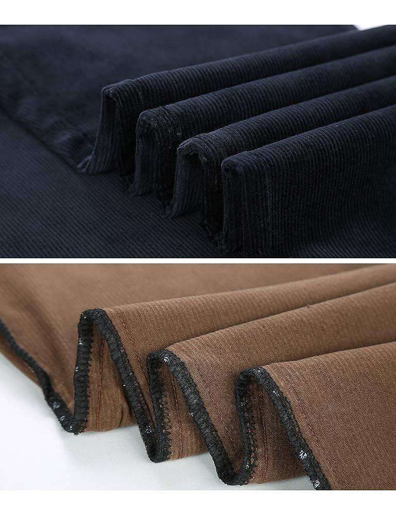 IDEALSANXUN Mens Classic Straight Fit Winter Warm Corduroy Dress Pants