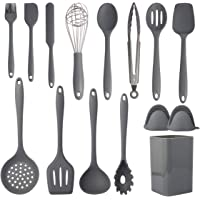 15-Pieces Xiqwa Silicone Kitchen Utensil Set (Gray)