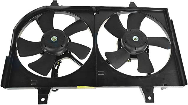 TYC 620710 Nissan Maxima Replacement Radiator//Condenser Cooling Fan Assembly