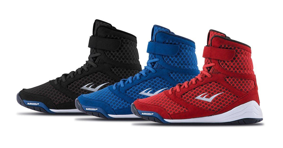 2787e8a0afaf Everlast New Elite High Top Boxing Shoes - Black
