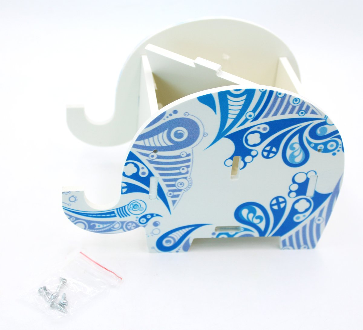 Cute Elephant Pen Pencil Comestic Stationery Holder Cell Phone Stand Multifunctional Storage Box Business Card by KINGSEVEN (Image #4)