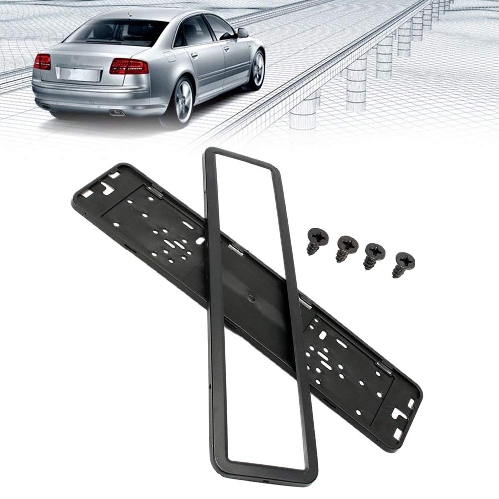 1pcs Car Universal European Russian License Plate Frame Holder Vehicle License Frame Stainless Steel