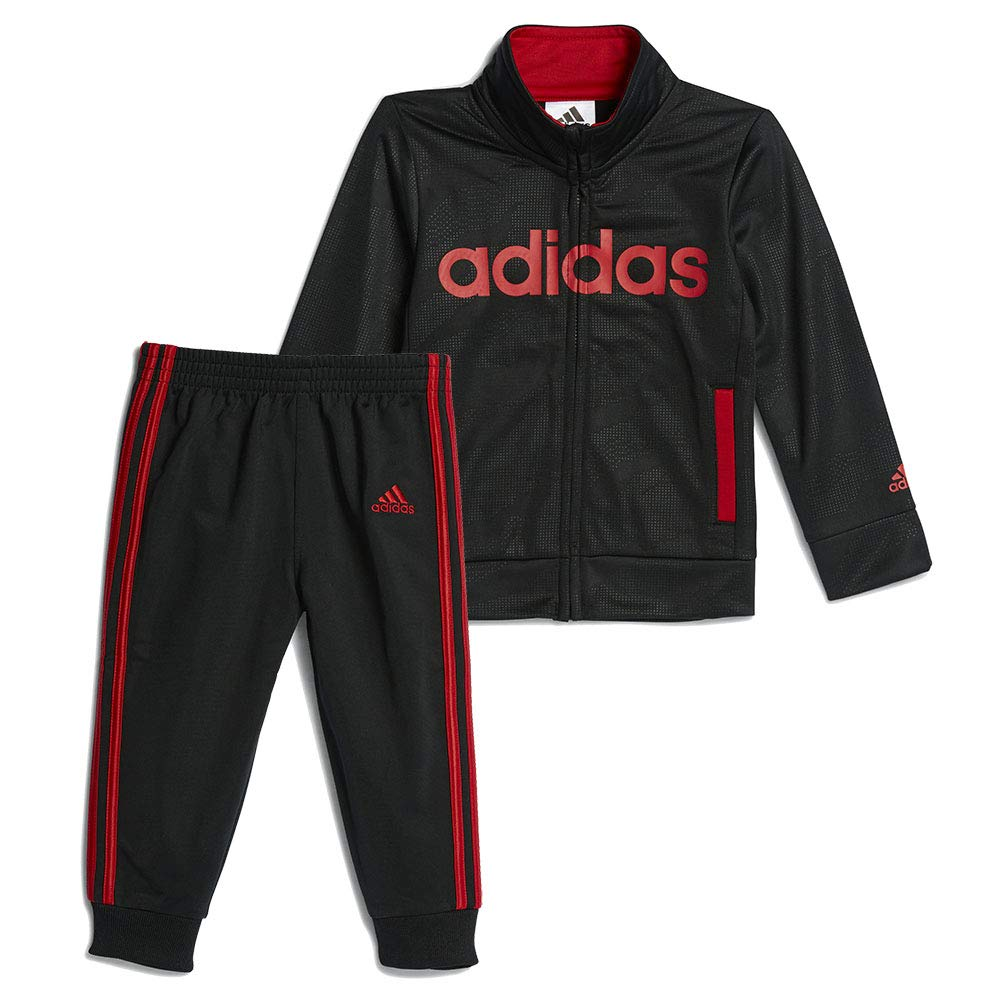 adidas Infants Moto Camo Set Kid's Track Suit (24M, Black/Red) by adidas