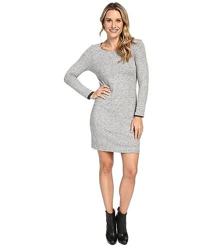 32e7c64a9b Amazon.com : Nally Millie Long Sleeve Brushed Sweater Reversible Dress  Heather Grey Women's Dress : Everything Else