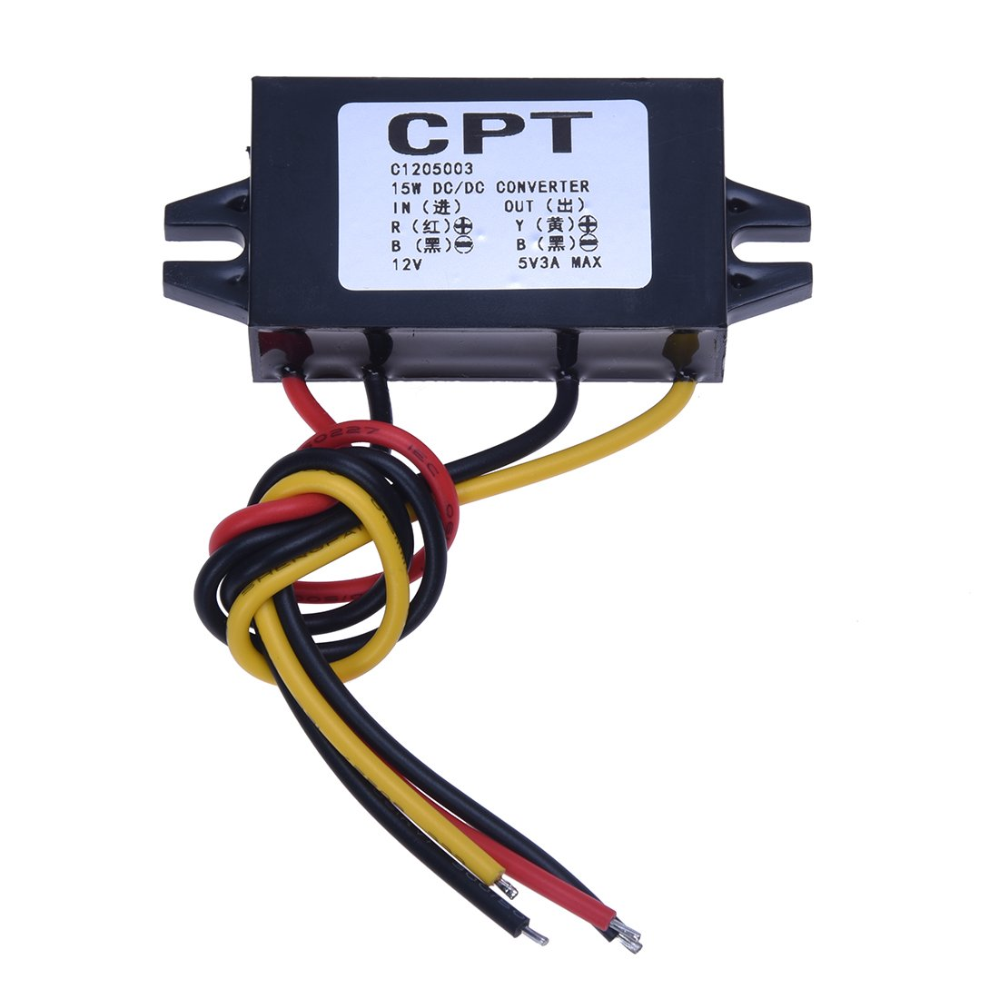 SODIAL(R) DC/DC Convertisseurs electriques Converter Regulator 12V to 5V 3A 15W Car Led Display Power Supply Module DCCON-C3A