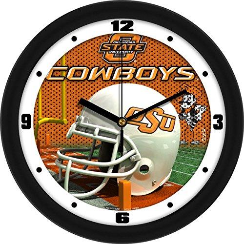 SunTime NCAA Oklahoma State Cowboys Helmet Wall Clock