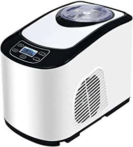 QPLKKMOI Ice Cream Machine, Soft & Hard Serve Ice Cream Maker With LCD Display Screen, 1.5L Removable Stainless Steel Barrel
