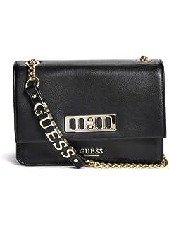 50b39d795dc5 Gucci Interlocking GG Black Leather Chain Strap Flap Shoulder Bag 336752  1000 · $1,999.00 · GUESS Factory Women's Dayna Logo Crossbody