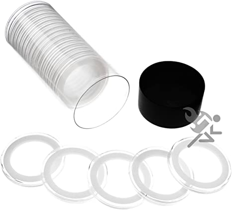 3 Air-tite 36mm White Ring Coin Holder Capsules for Canadian One Dollar and
