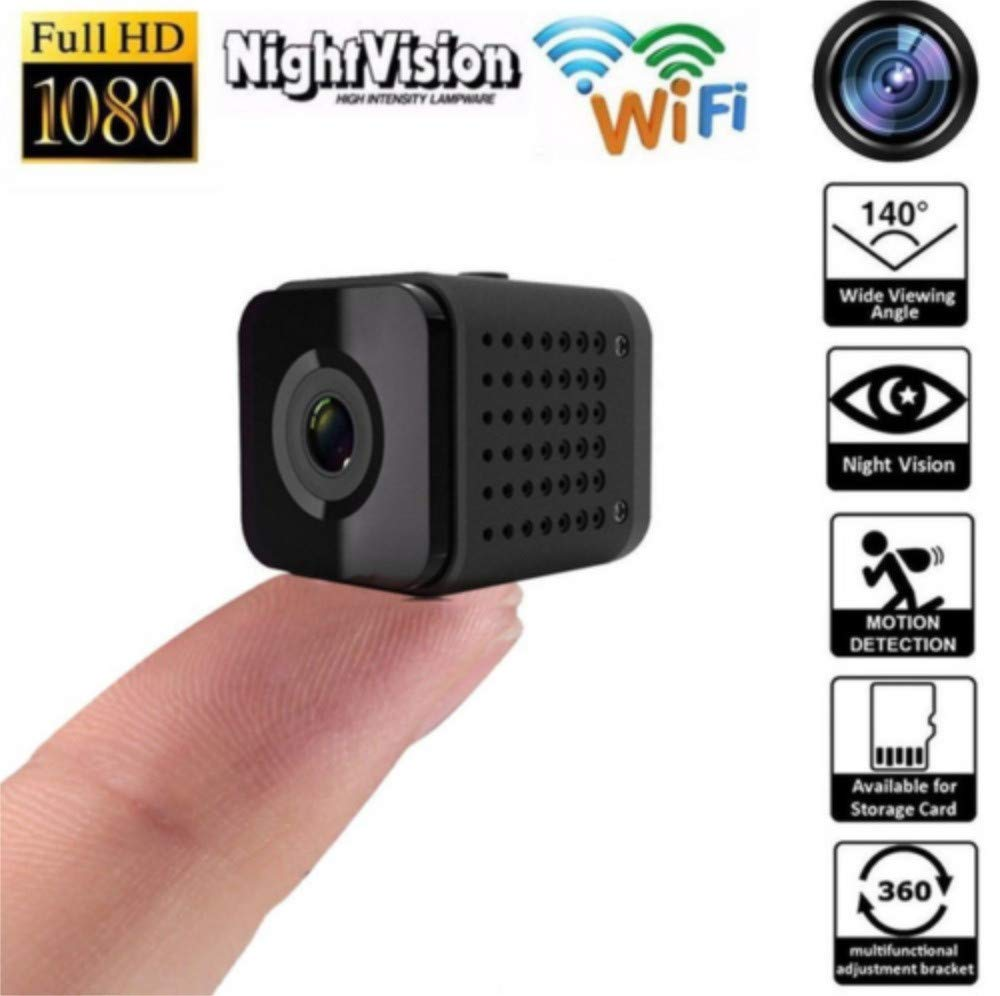 Sonmer HDQ13 Mini Home Security WiFi IP Camera, 140° Wide Angle,Support 1080P HD Night Vision Motion Detection Intelligent Alarm Loop Recording by Sonmer (Image #2)