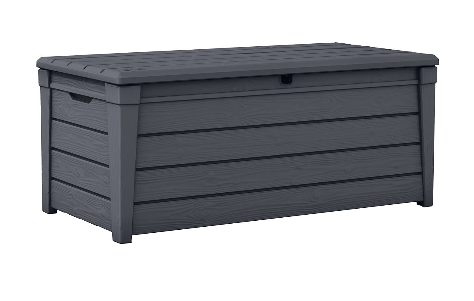 Keter Brightwood 120 Gallon Outdoor Garden Patio Storage Furniture Deck Box, Anthracite by Keter