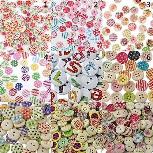 約200本 丸形 アルファベット 英字 クラフト用 2穴 木製 縫製ボタン 飾りボタン