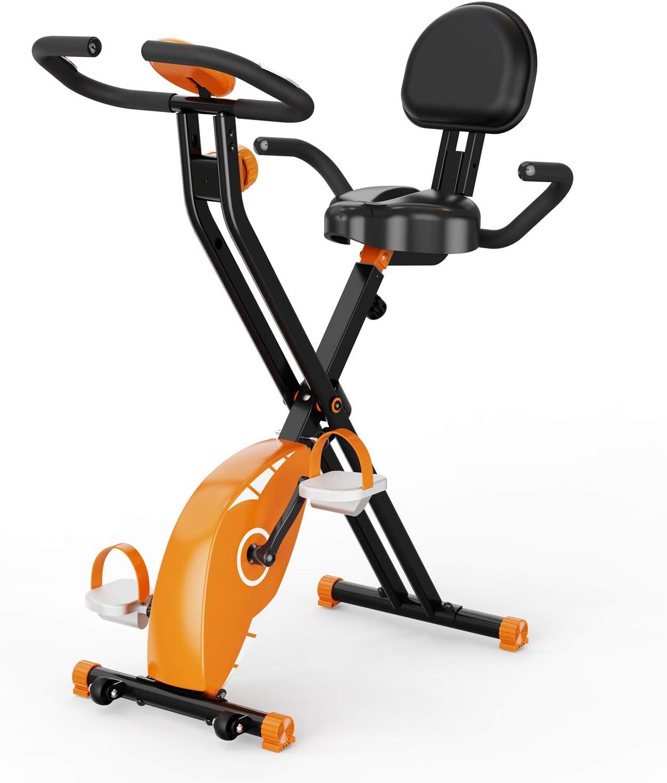 Pasa el ratón por encima de la imagen para ampliarla Bicicleta estática,Plegable F-Bike, Bicicleta Spinning Pro Indoor,bicicletas estaticas plegable ,niveles de resistencia ajustables, Bicicleta Plega