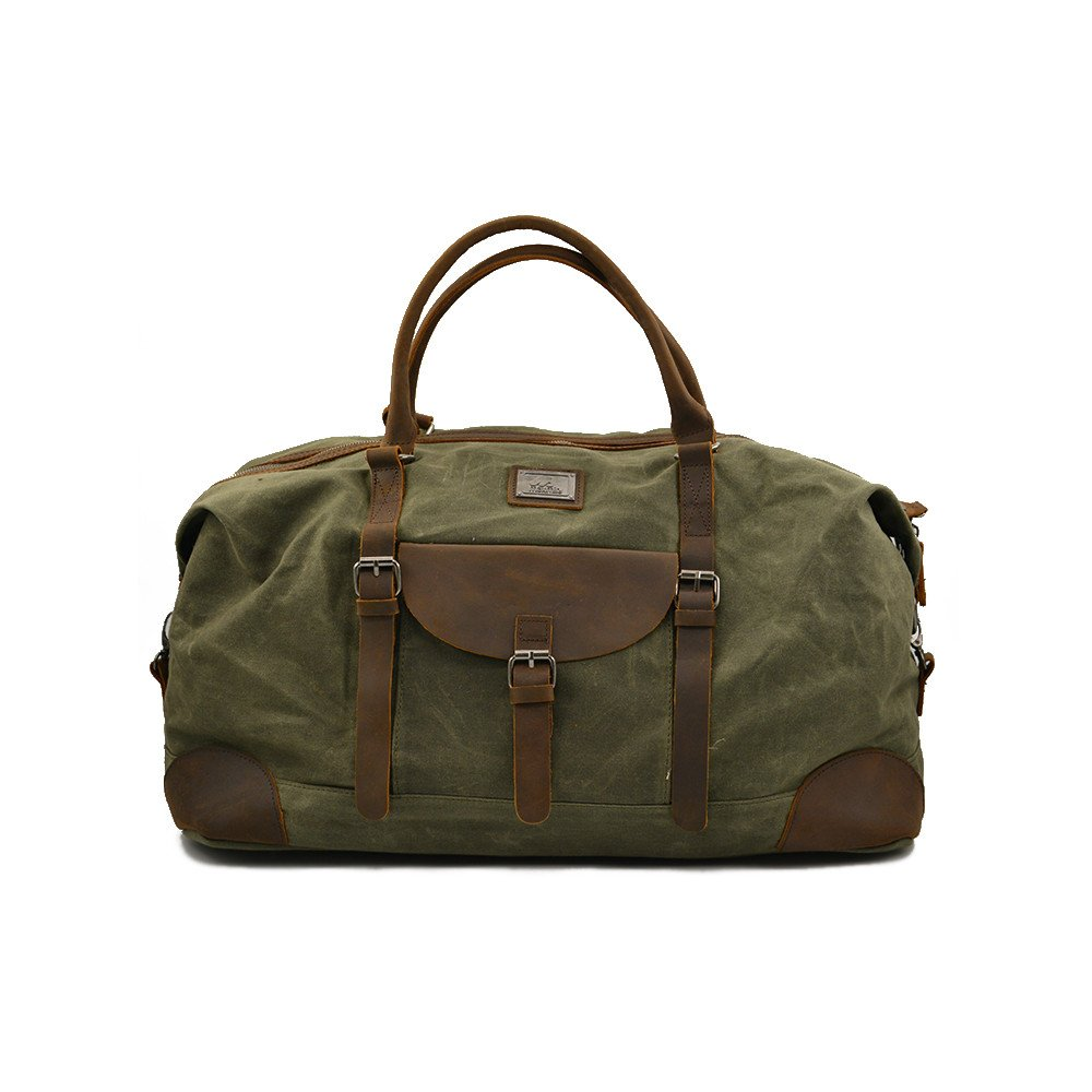 Maxmind Canvas & Leather Duffel Bag + Large