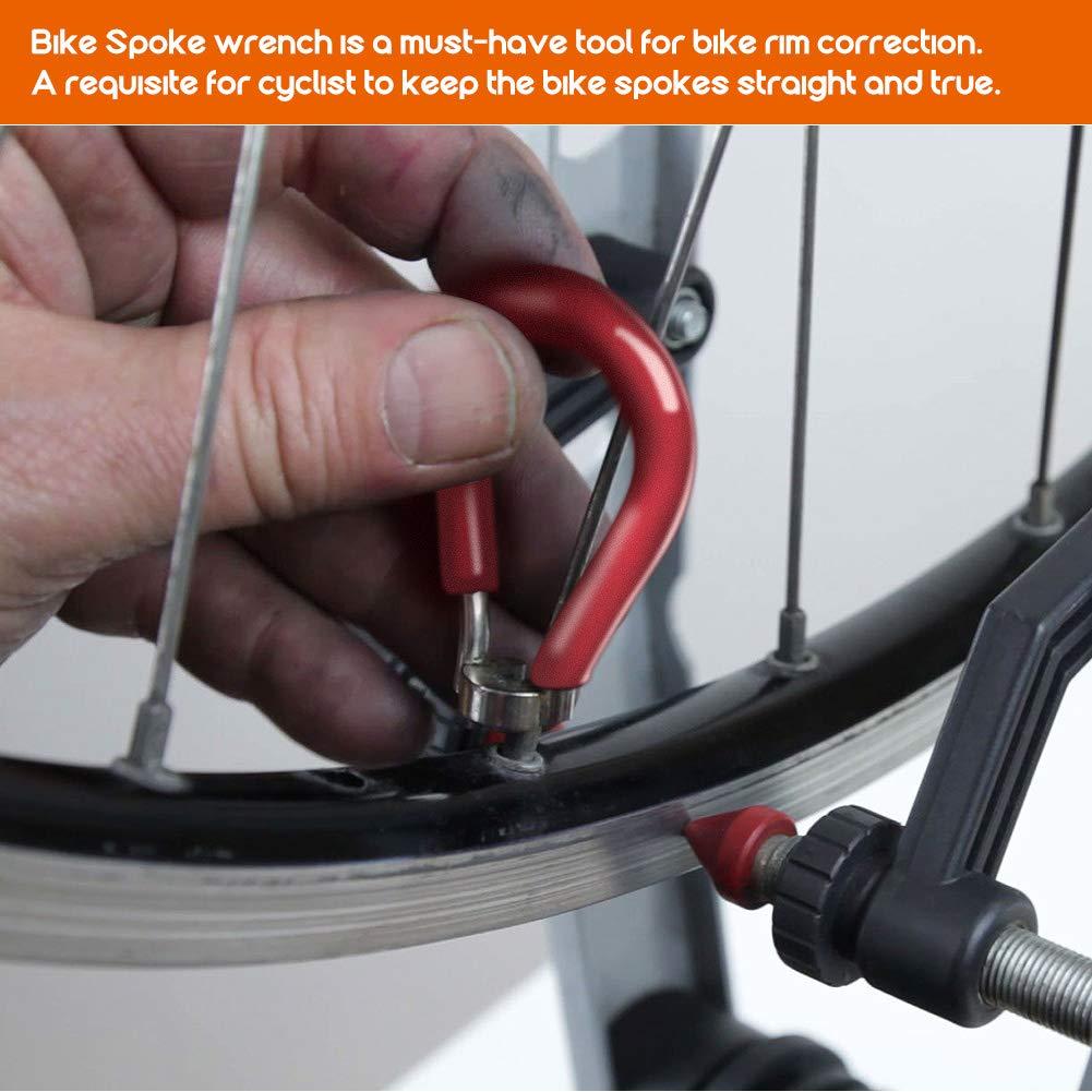 Korrekturset Radfahrer 4 St/ück Radfahrer Speichenschl/üssel Radfahrer Speichenwerkzeug f/ür Fahrrad