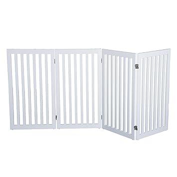 Amazon Com Pawhut 36 X 80 4 Panel Folding Wooden Indoor