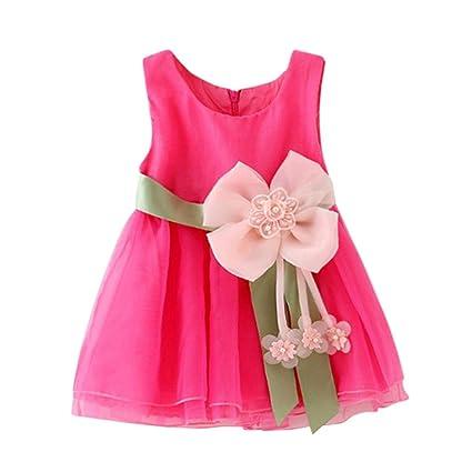 Niña Princesa vestido,Sonnena ❤ ❤ ❤ suave flores vestido sin manga