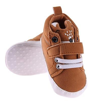 Everpert - Pegatinas unisex para bebé, antideslizantes, suela suave, diseño de lunares, zapatillas Pink 13cm