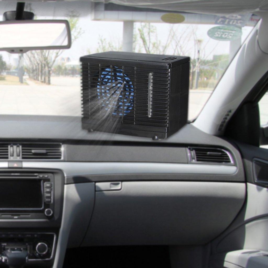 ecmqs r/églable 12/V Auto portable Mini Auto Camion Climatiseur Ventilateur auto Fen/être Ventilateur Refroidisseur da/ération