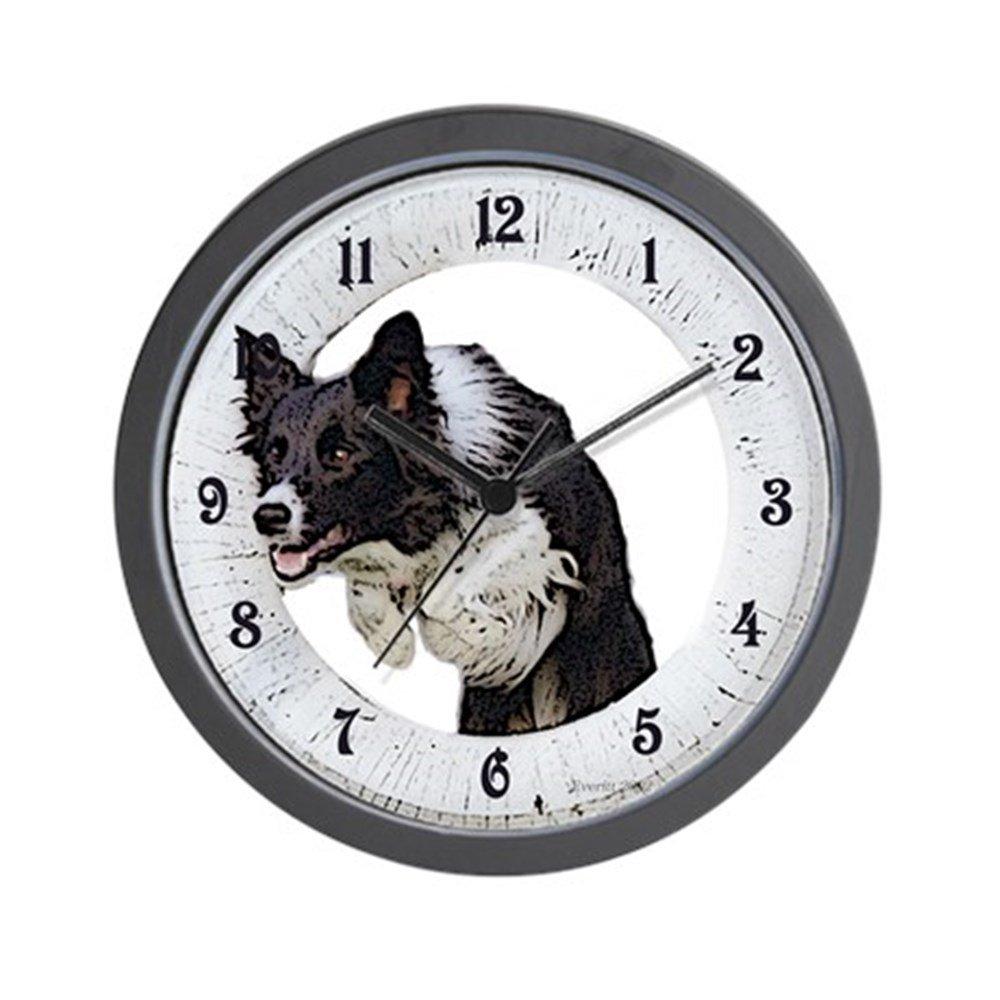 CafePress Unique Decorative 10 Wall Clock Border Collie Agility