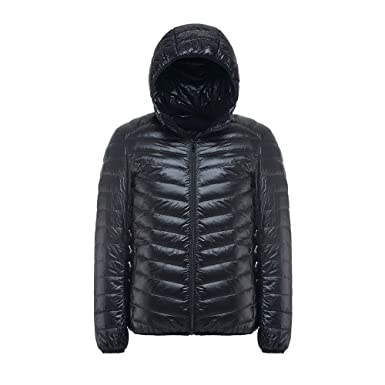 4YANG Down Jacket, Mens Hoody Winter Coats Male Hooded Jackets Teenager Slim Fit Windbreaker Down