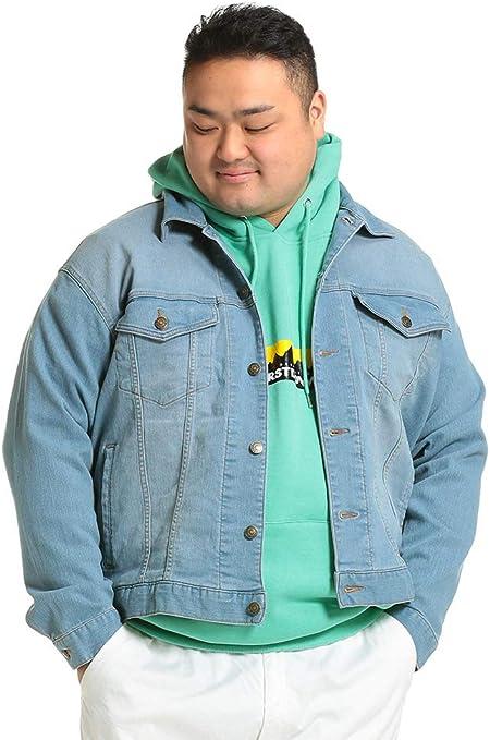 サカゼン B&T CLUB 大きいサイズ メンズ スーパーストレッチ フルボタン デニム ジャケット