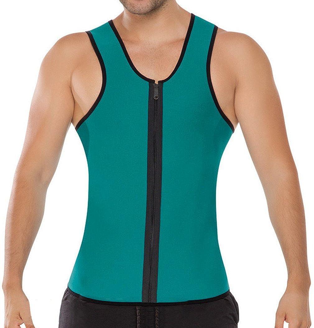 Männer Trainingsweste Fitnessgürtel Korsetts Top Shapewear Korsage Formen der Figur Gewichtsverlust Blau