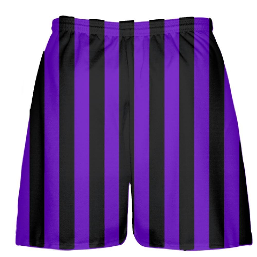 LightningWear Youth Purple and Black Striped Shorts,