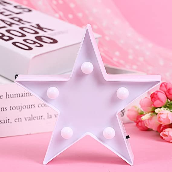 3d Star Light Led Plastic Star Shaped Sign Lighted Marquee Star