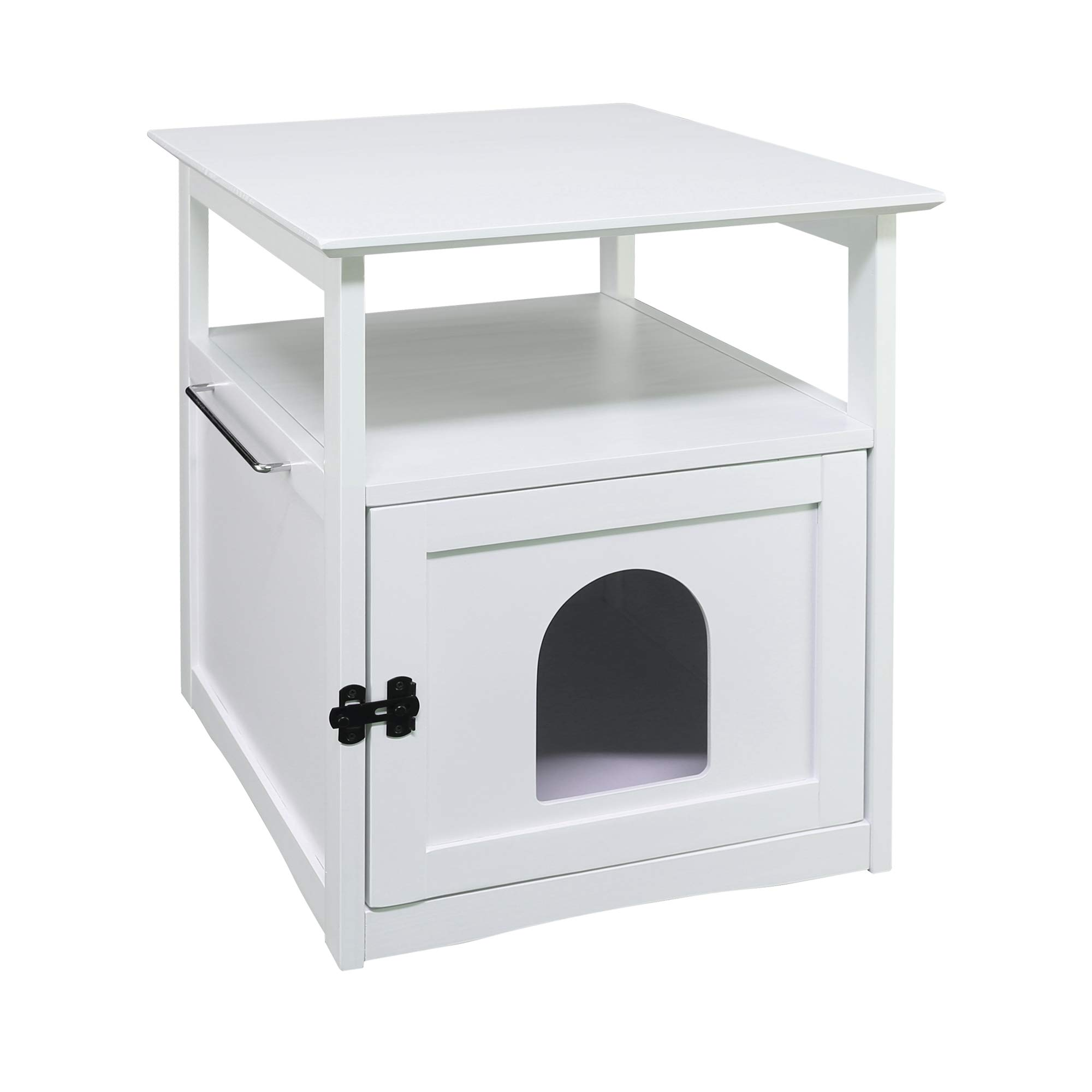 Casual Home 608-41 Aristo Wooden End Table-White Litter Box, 20.5'' W x 23.5'' D x 25'' H,