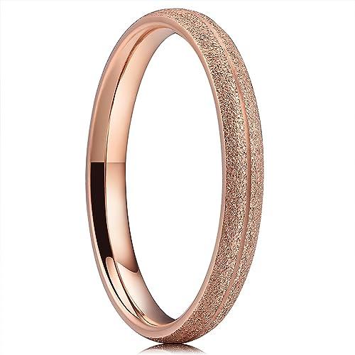 Amazoncom Three Keys Jewelry 3mm Womens Titanium Rose Gold Silver