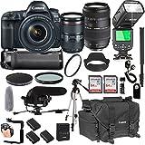 Canon EOS 5D Mark IV 24-105mm f/4 L is II USM + Tamron 70-300mm + 128GB Memory + Canon Camera Bag + Pro Battery Bundle + Power Grip + Microphone + TTL SpeedLight + Pro Filters,(24pc Bundle)