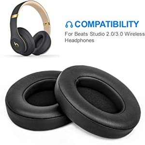 Beats Studio Replacement Ear Pads by Link Dream - Replacement Ear Cushions Kit Memory Foam Earpads Cushion Cover for Beats Studio 2.0 Wired/Wireless B0500 / B0501 & Beats Studio 3.0, 2 Pieces