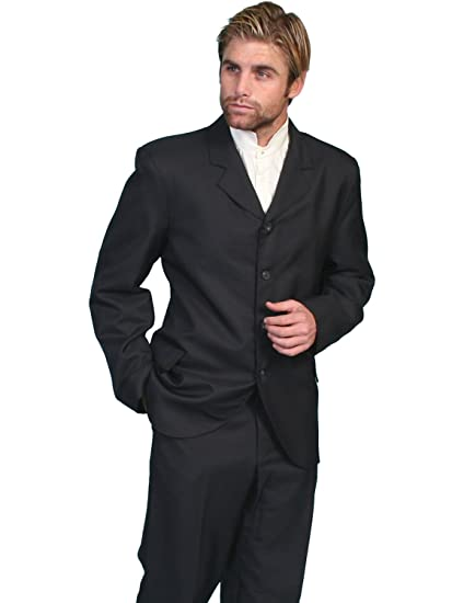 Men's Steampunk Jackets, Coats & Suits High Button Front Coat  AT vintagedancer.com