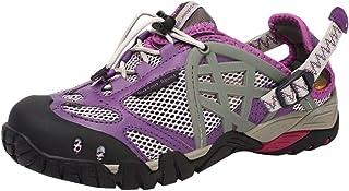DEELIN Femme Chaussures De Sport en Plein Air Léger Respirant Mesh Chaussures De Randonnée Antidérapantes Wading Chaussures à Séchage Rapide Baskets en Plein Air Laçage
