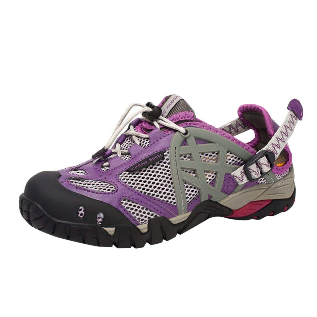 Kiminana Outdoor Shoes,Women's Summer Outdoor Wading and Quick-Drying Shoes Casual Sports Breathable Upstream Women's Shoes Purple