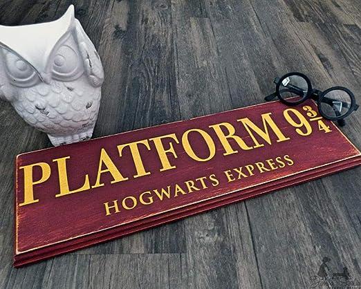 cwb2jcwb2jcwb2j Plataforma 9 3/4 Hogwarts decoración de ...