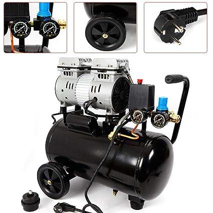 Z&Y 750 vatios Compresor de aire comprimido Compresor de aire sin aceite 2xF Compresor de aire