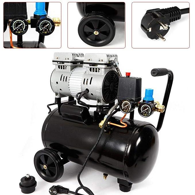 Oukaning Compresor de aire a presión, compresor de aire de 24 litros, silencioso, sin aceite, compresor de aire de 750 W 2 x f: Amazon.es: Bricolaje y ...