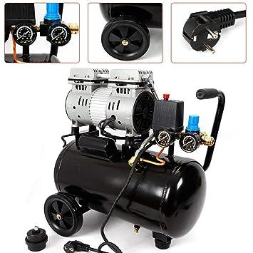 OUKANING Compresor de Aire Silencioso Aire Comprimido 24L Silencioso Compresor: Amazon.es: Bricolaje y herramientas