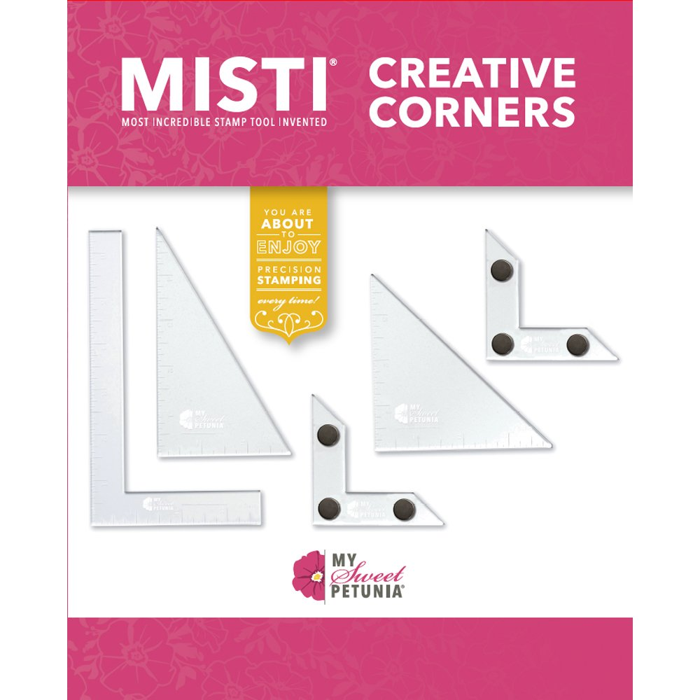 Creative Corners Positioning Pieces for Precision Stamping; 5-Piece Set Includes 2 L-Shaped Magnetic Pieces; from The Designers of The Misti Stamping Tools and The Cut-Align Rulers
